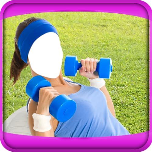 Fitness Girls Photo Montage