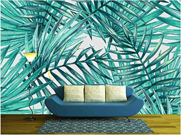 Wall26 Watercolor Tropical Palm Leaves Seamless Pattern Removable Wall Mural Self Adhesive Large Wallpaper 100x144 Inches