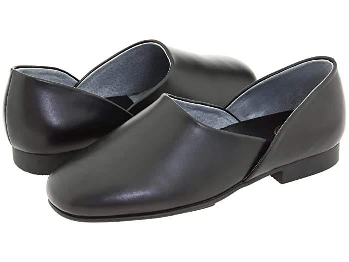1940s Men's Shoes & Boots | Gangster, Spectator, Black and White Shoes L.B. Evans Radio Tyme II Black Leather Mens Slippers $59.95 AT vintagedancer.com