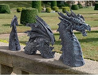 Garden Ornaments Design The Dragon of Castle Moat Lawn Garden Statue,Gothic Decorative
