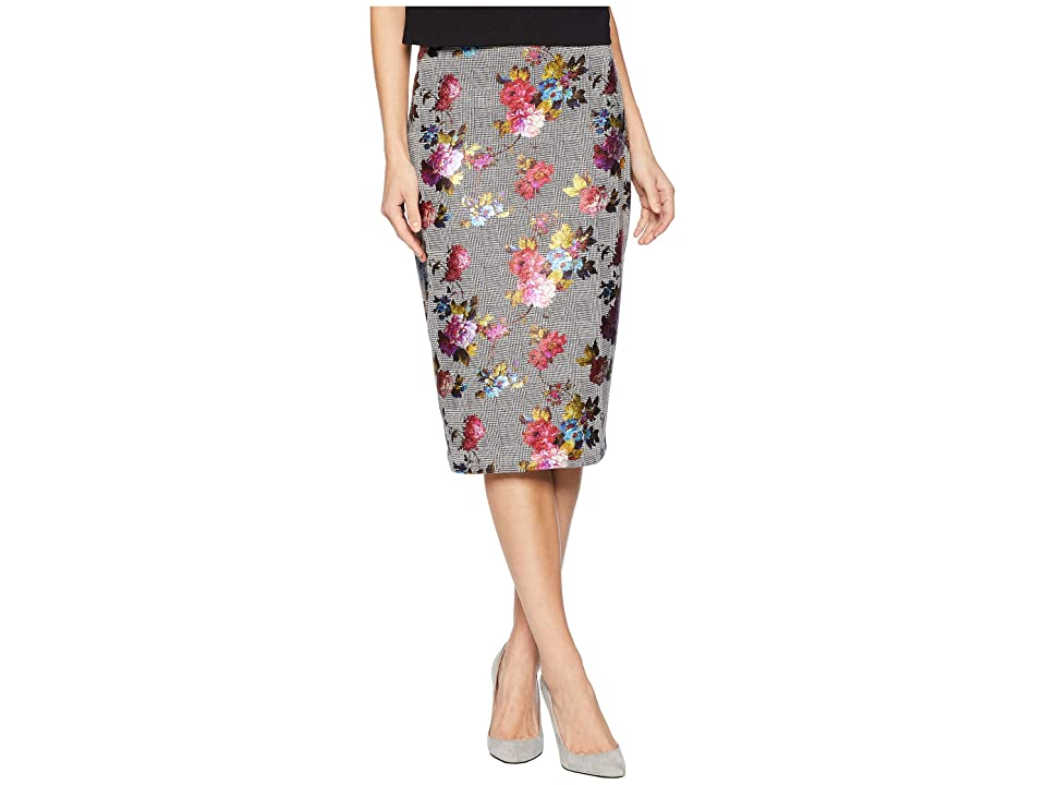 eci Foil Printed On Plaid Skirt (Multi) Women