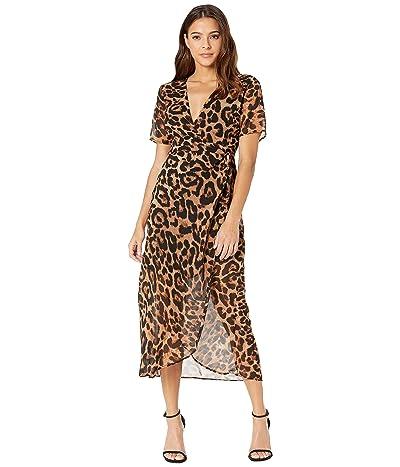 Bardot Leopard Wrap Dress (Leopard) Women
