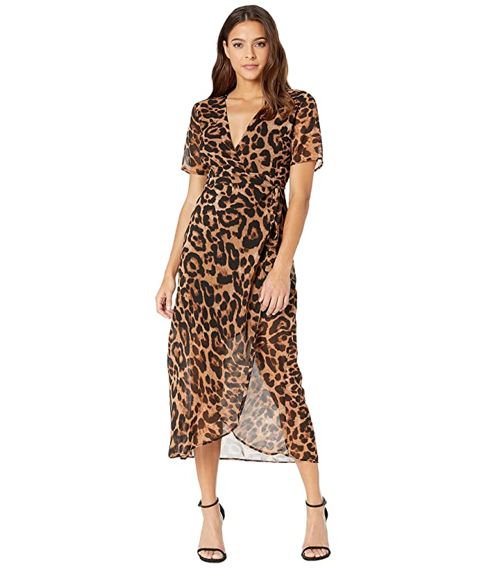 70s Dresses – Disco Dress, Hippie Dress, Wrap Dress Bardot Leopard Wrap Dress Leopard Womens Dress $87.20 AT vintagedancer.com