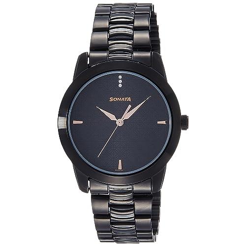 Sonata Analog Black Dial Men's Watch -NK7924NM01