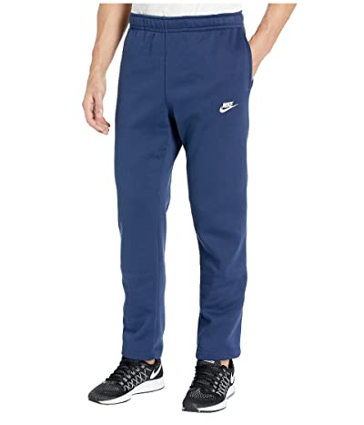 Nike NSW Club Pants Open Hem (Midnight Navy/Midnight Navy/White) Men