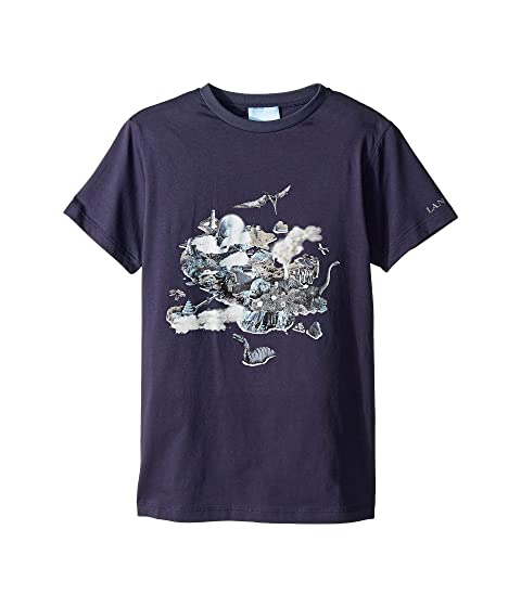 Lanvin Kids Placed Print T-Shirt (Big Kids)