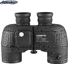 Aomekie Marine Military Binoculars for Adults 7x50 Binocular with Compass Rangefinder Waterproof Fogproof for Navigation Bird Watching Boating and Hunting