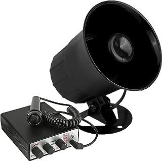 Car PA Siren Speaker System - Car PA System, Siren Horn, Handheld Microphone, Emergency Warning, Security Alarm System, 6 Tones, 350 Ft Range, 30 Watt 12V Vehicle Alarm Security System - Pyle