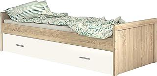 HomeSouth - Cama Nido Juvenil, Dos Camas de habitación y/o Dormitorio, Color Cambria y Blanco, Modelo Lara, Medidas: 197 cm (Largo) x 98 cm (Ancho) x 58 cm (Alto)
