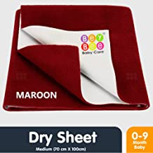 Beybee Baby Waterproof Bed Protector Sheet - Medium (Maroon)