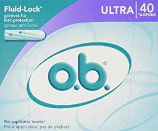 o.b. Ultra Absorbency Tampons, 40 Count (Pack of 2)