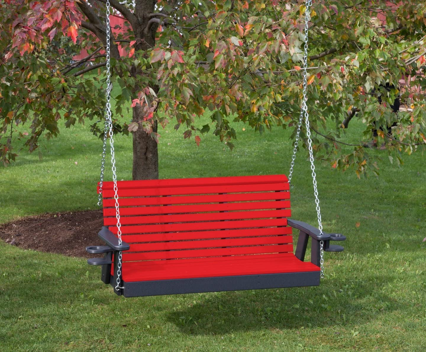 Ecommersify Inc 5FT-Bright San Diego Mall Spasm price RED-Poly Lumber ROLL Swing Back Porch