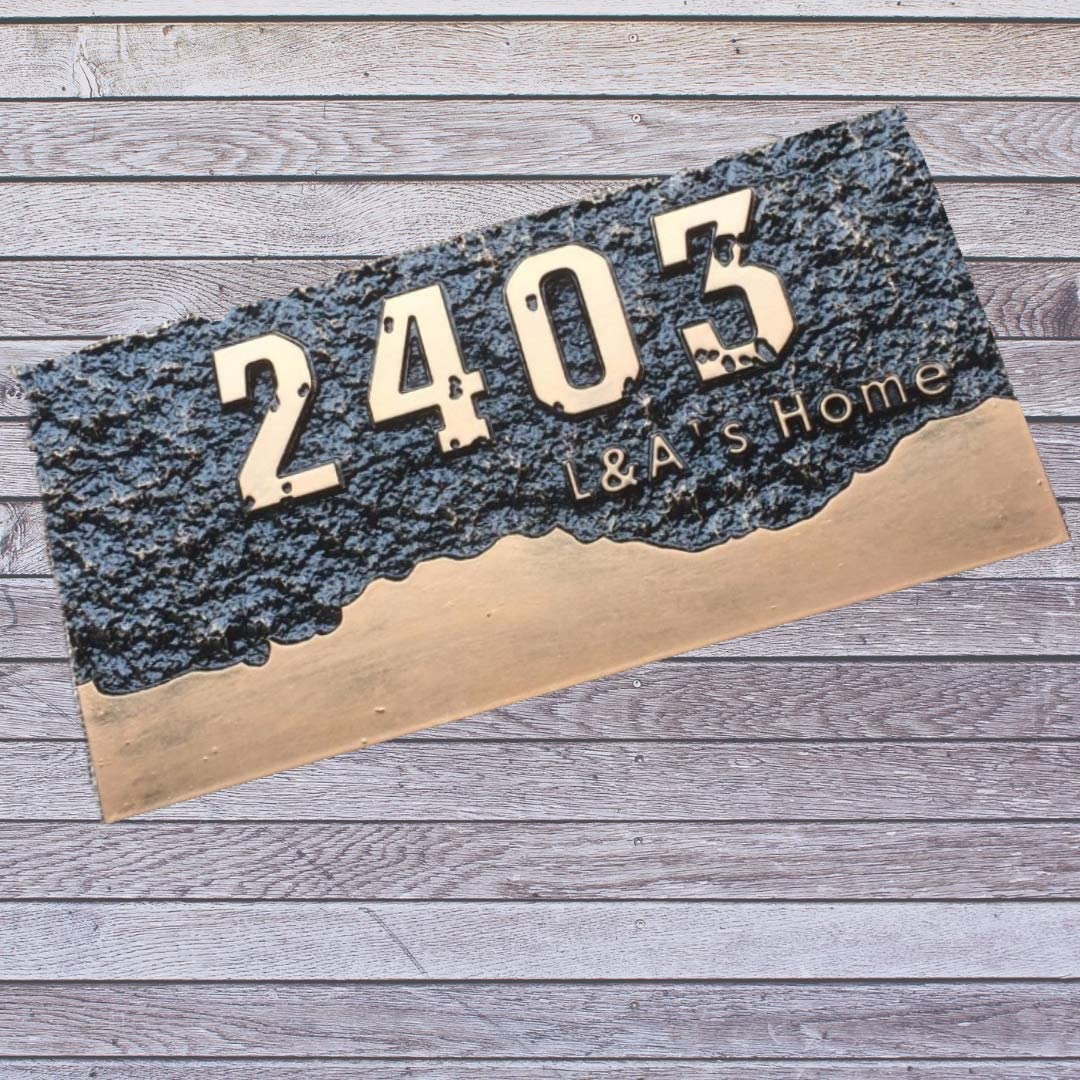 Nayna Custom House Number Plate- a Black Acrylic Limited time sale Limited price sale Material Strong