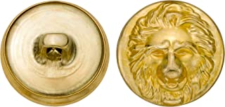 36-Pack C/&C Metal Products Corp Size 45 Ligne C/&C Metal Products 5136 Double Halo Metal Button Gold