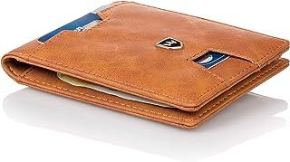 Kronenschein® Portafoglio premium sottile da Uomo con Fermasoldi Portamonete Custodia per carte di Credito e protezione RFID