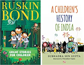 Great Stories for Children + A Children's History of India (Set of 2 books)