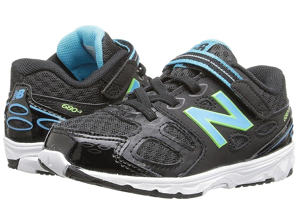 New Balance Kids KA680v3 (Infant/Toddler) (Black/Blue) Girls Shoes
