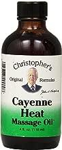 Dr Christopher's Formula Cayenne Heat Massage Oil, 4 Fluid Ounce