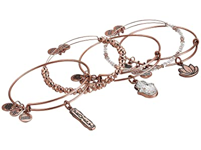 Alex and Ani Crystal Infusion Protect Set of 5 (Rafaelian Rose Gold) Bracelet