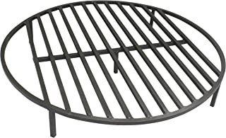 Titan Attachments Round Fire Pit Grate 30'' Heavy Duty Grill Cooking Campfire Camp Ring 1/2