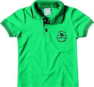 Camisa Polo estampa puff, Malwee Kids, Meninos