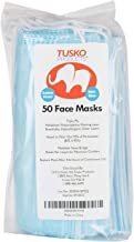Tusko Products Disposable Facial Masks with Elastic Ear Loops for Dust and Pollen, 50 Count