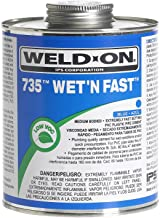Weld-On 12496 Pint 735 Wet 'R Dry PVC Cement, Blue, 1-Pack