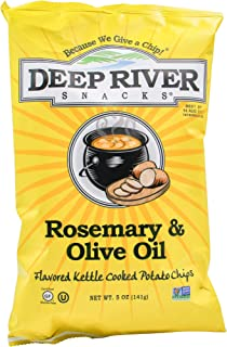 Deep River Snacks Kettle Chips, Rosemary and Olive Oil, 5 Ounce