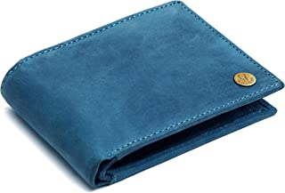 WildHorn® RFID Protected Genuine High Quality Leather Wallet for Men (Blue Hunter)