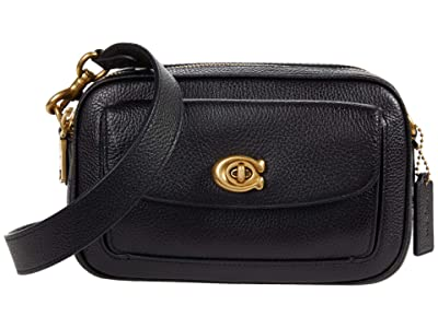 COACH Polished Pebble Leather Willow Camera Bag