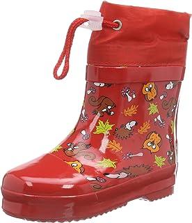 Playshoes Bota de Agua con Forro Animales, Botas de Goma de Caucho Natural Unisex niños