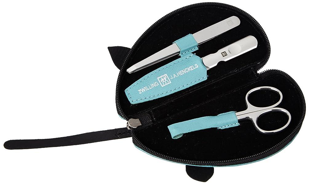 ぴったりパンダグラムZwilling Leather Mouse Shaped Manicure Set, Turquoise, 3 Pcs.