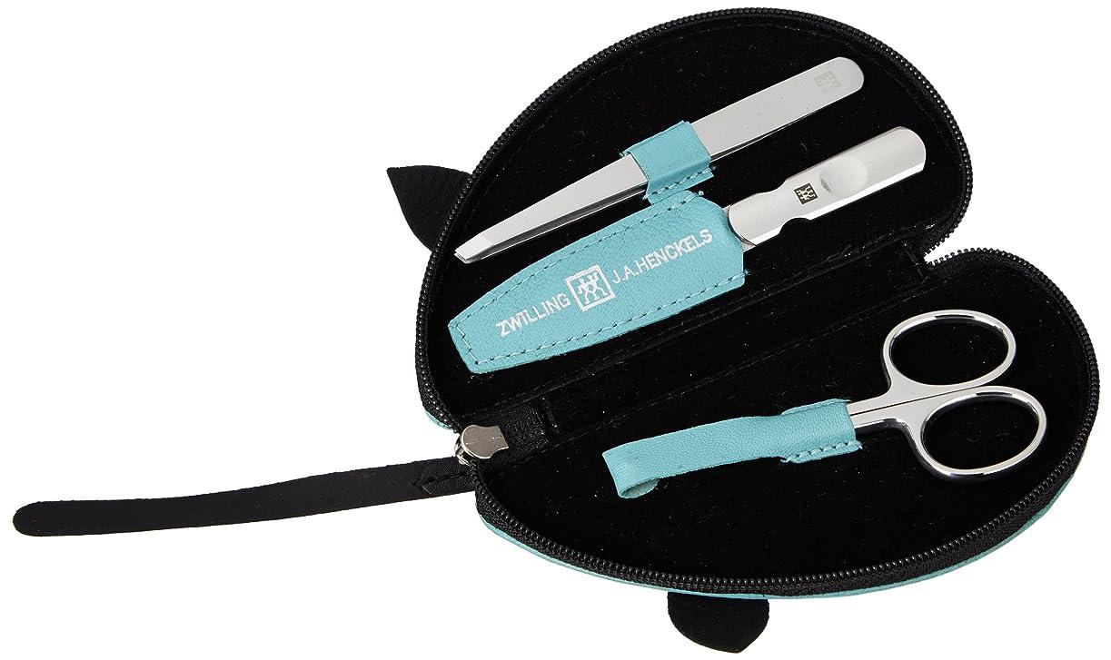 タブレット感謝ペンフレンドZwilling Leather Mouse Shaped Manicure Set, Turquoise, 3 Pcs.