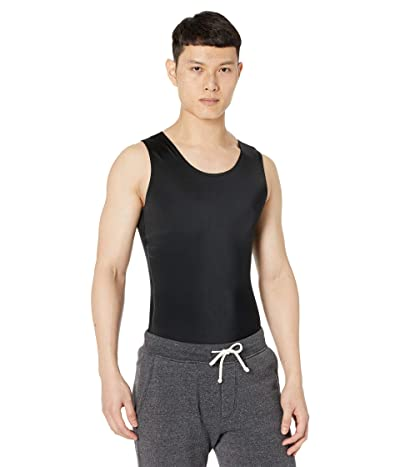 InstantRecoveryMD Compression Sleeveless Muscle Tank Top with 12 Side Zipper (Black) Men
