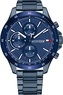 Tommy Hilfiger Men'S Navy Dial Ionic Plated Blue Steel Watch - 1791720