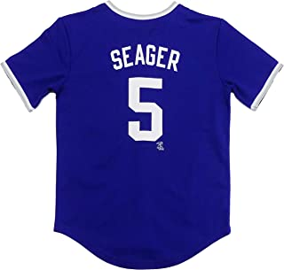 Outerstuff Corey Seager Los Angeles Dodgers Blue Youth Player Stripe Fashion Jersey