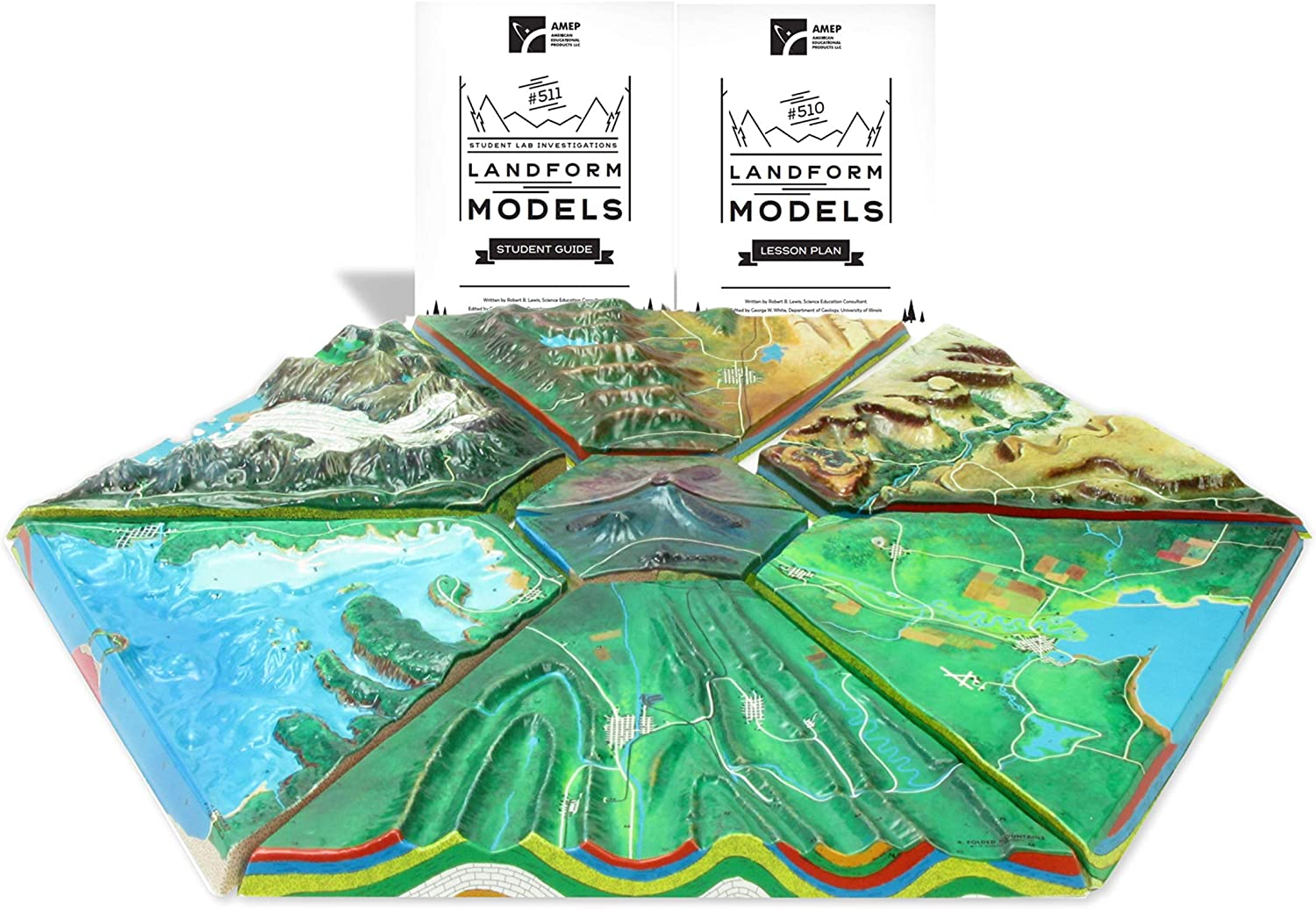 American Educational Landform Discovery Pack Models without CDs or Tapes