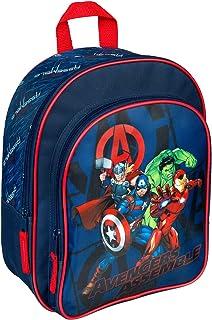 Mochila con bolsillo delantero de Marvel Los Vengadores para escuela y ocio, 31 x 25 x 10 cm aprox.