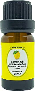 Lemon Essential Oil | 10ml | Aromatherapy | Natural 100% Pure Lemon OIl | Use in Laundry | Teeth Whitener | Mood Enhancer ...