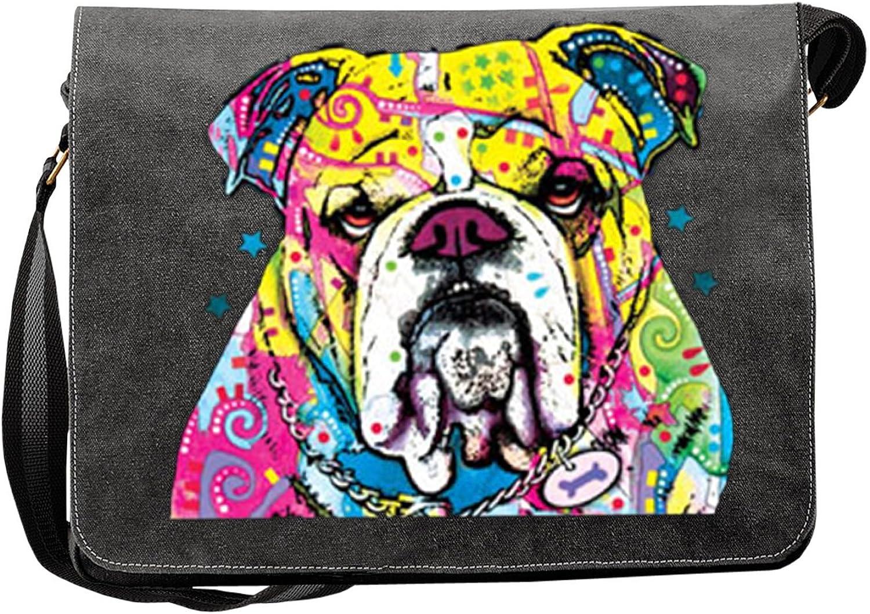 Hunde Motiv Umhängetasche für Hundehalter mit Hunde Tasche Canvas Canvas Canvas The Bulldog Hund Hundebesitzer Hundehalter Dog Hunde Artikel Dogs Hundefreund B01N3UYYB4 77c123