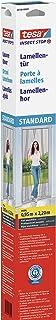 tesa Insect Stop Standard Lamellenhor - Lamellendeur, hordeur - Met klittenband - Antraciet (doorzichtig), 120 cm x 250 cm