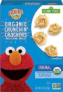 Earth's Best 饼干 原味 Sesame Street卡通人物 5.3盎司(150g)6包