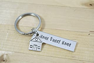 Home Sweet Home Keychain, Realtor Closing Gift For Buyers, Real Estate Marketing, Housewarming Gift