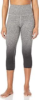 Core 10 Womens DP0003 Yoga Foldover High Waist Capri Legging-22 Leggings