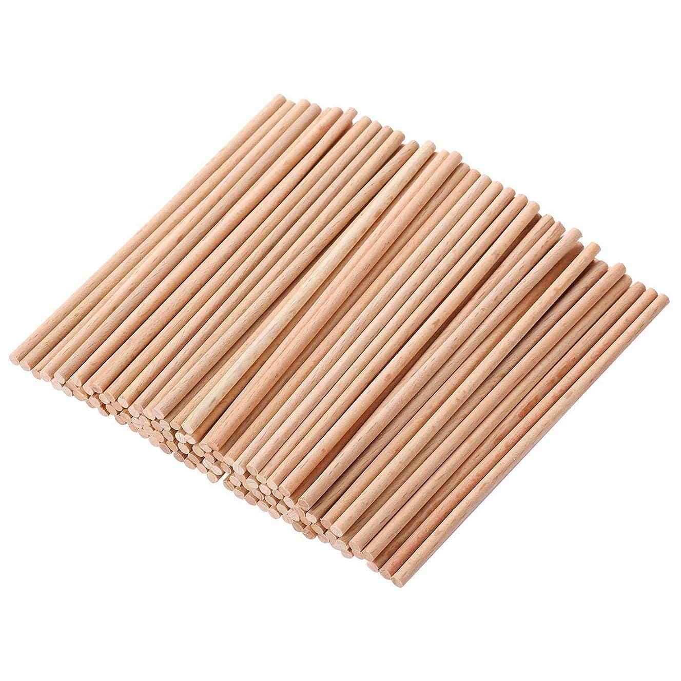 HealthGoodsIn - Natural Bamboo Dowel Sticks for Craft Projects | Project Dowel Sticks Made of Natural Bamboo (Pack of 100) (15 cm)