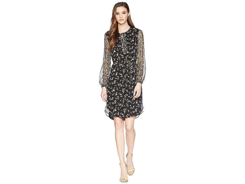 LAUREN Ralph Lauren Floral Georgette Dress (Multi) Women