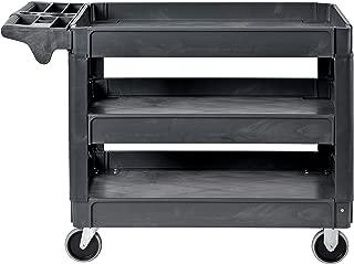Sandusky Lee PUC254635-3 Heavy-Duty Plastic Utility Cart, 3 Shelves, 46