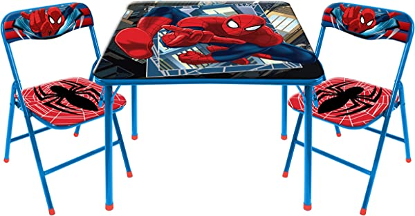 Marvel Spider Man 3 Piece Table And Chair Set