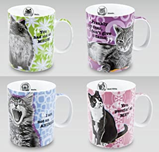 Konitz Assorted Cat Mugs, Set of 4