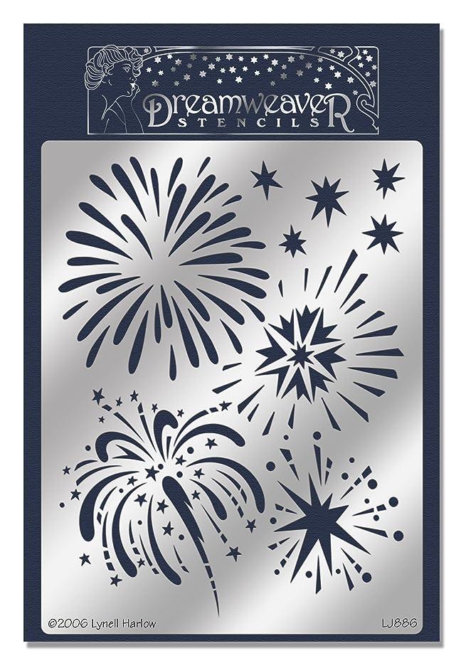 Stampendous Dreamweaver Metal Stencil, Fireworks